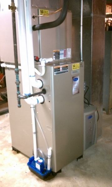 Carrier Furnace installation in a Princeton, NJ home