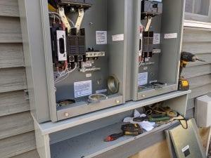 Wiring for a Kohler generator installation in Cranbury, NJ