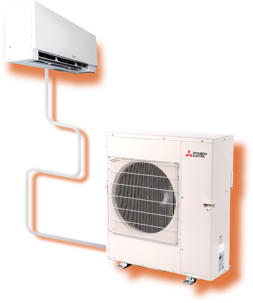 A Single-Head Heating and Cooling Unit from Mitsubishi Electric